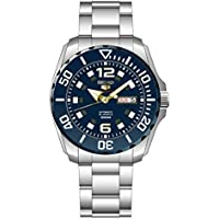 Seiko Men's Seiko 5 43.5mm Steel Bracelet & Case Automatic Watch SRPB37K1