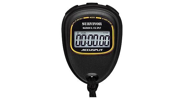 NEW ACCUSPLIT Survivor S3CL CUMULATIVE LAP SPLIT Stopwatch with Magnum Display