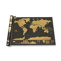 1stモール スクラッ地図 世界地図 ポスター 国 デザイン スクラッチ インテリア 旅行 おしゃれ 壁 テーブル ワールドカップ オリンピック ST-SUKURATIZU
