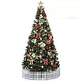 DULPLAY クリスマス装飾クリスマス ツリー 3 m 3.5 m 4.5 メートル m ハードカバー パッケージ フェスティブ ホテル ショッピング シーン装飾小道具-C 400cm(157inch)