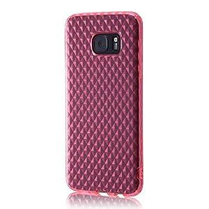 レイ・アウト Galaxy S7 edge ケース TPUソフトケース キラキラ ピンク RT-GS7EC7/P
