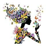 Dovewill DIY 手作り 手芸 ビーズ キット ダイヤモンド 塗装 絵 デコレーション 壁掛け 図案 13種類選べる - #5, 約25 * 25センチメートル