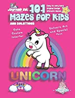 101 Mazes For Kids: SUPER KIDZ Book. Children - Ages 4-8 (US Edition). Cartoon Rainbow Baby Unicorn, Pink w custom art interior. 101 Puzzles w solutions - Easy to Very Hard learning levels -Unique challenges and ultimate mazes book for fun activity time! (Superkidz - Unicorn 101 Mazes for Kids)