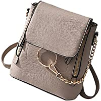 HENGSHENG Fashion Women Crossbody Backpack Purse Small Pu Leather Shoulder Bag Ladies Cute Chain Satchel Bag