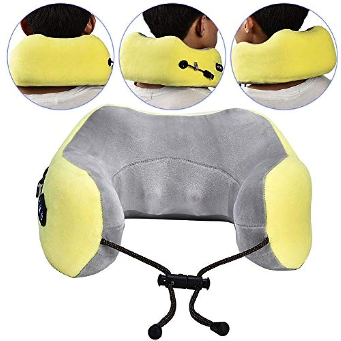 流星逃す定説U型マッサージ枕、USB充電インテリジェントネックマッサージ、電動睡眠枕睡眠旅行、痛みマッスルリリーフマッサージ機、首肩首サポーター