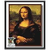 ARTomo【アトモ】パズル油絵『フレーム付き|世界名画』数字 油絵 DIY 塗り絵 本格的な油絵が誰でも簡単に楽しく描ける 40x50cm (ダ・ヴィンチ|モナ・リザ)