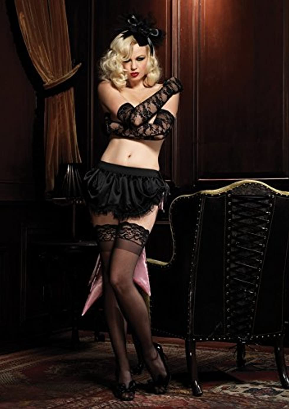 LEG AVENUE レッグアベニュー バッスル パニエ A1694 ブラック ピンク BLACK/PINK