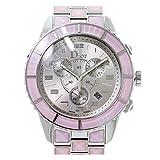 クリスチャン ディオール Christian Dior クリスタル クロノグラフ CD114314 レディース 腕時計 デイト ピンク ウォッチ 【中古】 90065031 [並行輸入品]