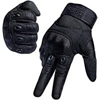 Tactical Gloves for Men, FREETOO Military Rubber Hard Knuckle Outdoor Gloves for Shooting, Hunting, Hiking, M L XL