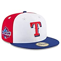 New Era New Era Texas Rangers White/Navy 2018 MLB All-Star Game On-Field 59FIFTY Fitted Hat 服 8 【並行輸入品】