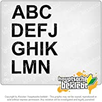 ABC自己接着性セット1 A-N ABC self-adhesive set 1 A-N 15cm x 10cm 15色 - ネオン+クロム! ステッカービニールオートバイ
