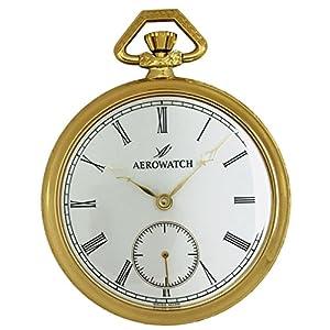[アエロウォッチ]AEROWATCH 懐中時計 機械式手巻 オープンフェイス スモールセコンド 50620 J501 【正規輸入品】