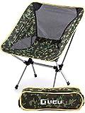 LICLI アウトドアチェア 折りたたみ コンパクト 軽量 おしゃれ チェア 耐荷重120kg 折りたたみ椅子 「 キャンプ 登山 釣り アウトドア 」「 持ち運び可能 専用ケース付き 」「 簡単組み立て 椅子 」 5カラー (迷彩)