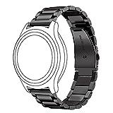 Gear S3 ステンレス製ベルト 【Mothca】留め金 腕時計ストラップ 交換ベルト ウォッチベルトバンド 防水 腕時計替えベルト スペアベルト ご自分でサイズ調整可能 バックル プッシュ式