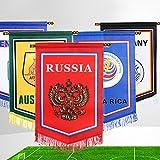 RaiFu 国旗 旗 吊り下げ 壁掛け 2018ロシア ワールドカップ 応援 サッカー デコレーション インテリア バー