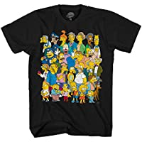 Disney The Simpsons Springfield Group Montage Bart Homer T-Shirt