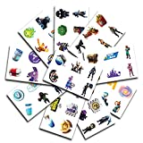 10 Sheets 60 Temporary Tattoos of Battle Royale Characters | Birthday Party Supplies Favors | Easy to Use | Safe | Durable | Tattoos for Children | Multiple Designs | Non-toxic