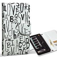 スマコレ ploom TECH プルームテック 専用 レザーケース 手帳型 タバコ ケース カバー 合皮 ケース カバー 収納 プルームケース デザイン 革 英語 アルファベット 文字 010886