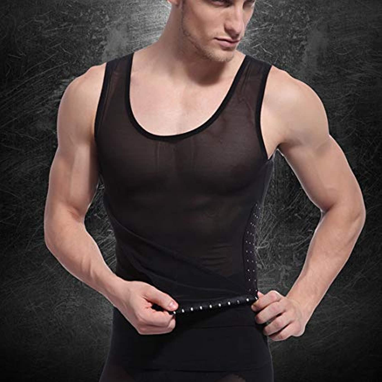 プラットフォームデッキショッピングセンターボディシェイプノースリーブベストボディシェイパーチューニングベリーウエストトレーナーコルセットトップス快適な下着服シェイプウェア (Panda) (色:青銅)