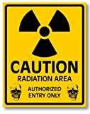 放射能注意ステッカー Mサイズ 再帰反射でよく目立つ 放射能注意M