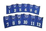 [アスタルテ] ASTARTE 軽量速乾 番号 ビブス 7色 収納ポーチ セット (ブルー 1番~12番セット)