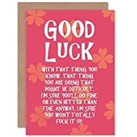 CARD GREETING GOOD LUCK ADULT FUN THING GIFT 良い広告贈り物