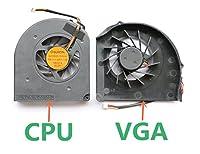 gotor® W700 W701対応交換用左右CPU ファン 冷却散熱CPU ファン 2個セット