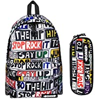 Bonne Backpack with Matching Pencil Case Value Pack - Unisex Design Hip Hop