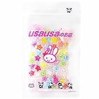 【アウトレット商品】usausaのお店 カラフル星の模様入り飾りボタン 50個セット(14mm)(シャンクボタン)