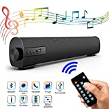 Portable Speaker Bar for TV/PC, The Remote Control with The Latest Outdoor/Indoor Wired And Wireless Bluetooth Stereo Speakers, 2 X 5W Mini-Home Theater