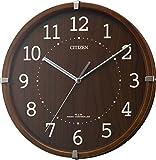 シチズン 電波 小さい 掛け時計 アナログ シンプルモードアーク ミニ 小型 木 茶 (半艶仕上) CITIZEN 4MYA27-006