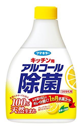 フマキラー キッチン用 アルコール除菌スプレー つめかえ用 400ml