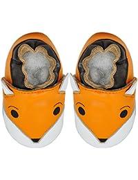 Kimi + Kai Kids Soft Sole Leather Crib Bootie Shoes - Foxy