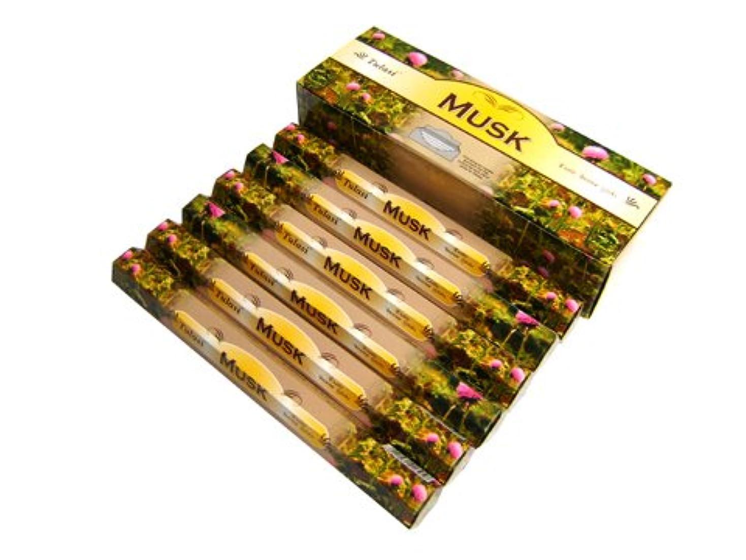 基本的な音楽を聴く暗唱するTULASI(トゥラシ) ムスク香 スティック MUSK 6箱セット