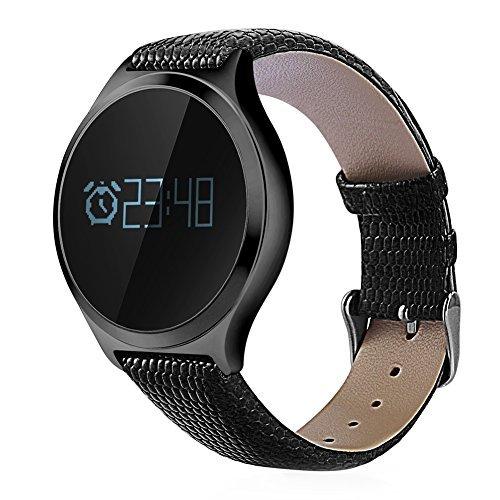 RUNACC スマートウォッチ 睡眠計 血圧計 スマートブレスレット 活動量計 着信知らせ 心拍計 座りがち注意 歩数計 カロリー 距離 アラーム 健康統計 腕時計 IP67防水 Bluetooth4.0 Android IOS対応 (ブラック)