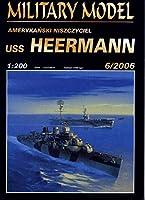 Harinski 1:200 米海軍 フレッチャー級駆逐艦USS HEERMANNセット品(CardModel)