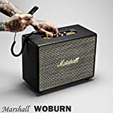 【国内正規保証付き】Marshall WOBURN マーシャル 「ウーバーン」Bluetooth搭載のコンパクトスピーカー:ブラック 【ギターアンプ、ヘッドフォン、iPhone、スマートフォン】