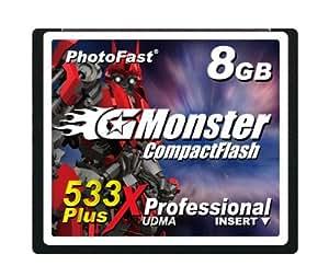 PhotoFast G-Monster 533倍速 8GB コンパクトフラッシュカード読込80MB/s 書込80MB/s GM-533CF8SL