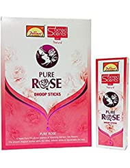 Parimal Sacred Scents Pure Rose Dhoop Sticks 50グラムパック、6カウントin aボックス