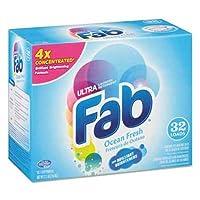 Fab 2X粉末洗濯洗剤、Ocean Breeze、2.1lbボックス、4/カートン