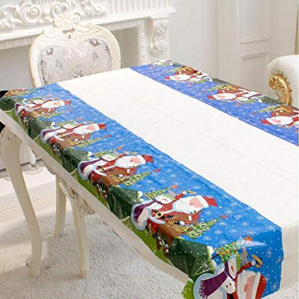 姪シュガーやろう使い捨て家庭用テーブルクロス、クリスマスデコレーション、PVCテーブルクロス、家族の休日パーティーの装飾110 * 180cm A