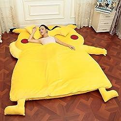 畳ベッド 可愛い ピカチュウ 暖かい 高品質 ヘッドレス ソファー (シングル)