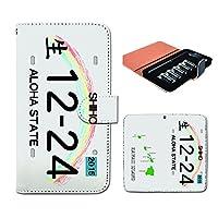 (ティアラ) Tiara プルームテック ケース ploom tech 専用 手帳型 カバー ナンバープレート 名入れ ハワイ FP089010000002 名入れ 本体 充電器 たばこ カプセル 全部 収納 禁煙