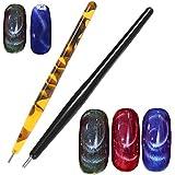 1 ピースマグネットペン磁気スティック猫目ジェルポリッシュ UV LED ネイルアートマニキュアツールネイルアート点在ツール pontilhado ペンラインストーン