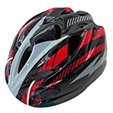 自転車 ヘルメット ジュニア スタンダードモデル ブラック/レッド 46407 M (頭囲 52cm~56cm未満)
