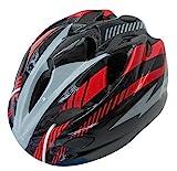 自転車 ヘルメット ジュニア スタンダードモデル Mサイズ 52~56cm ブラック/レッド 46407