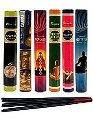 aromatika Best Seller Hexaコンボパック' C ' (6ボックスX 20 Sticks = 120 Sticks) Incense Sticks Spiritual Guruヨガ、チャクラ、7電源...