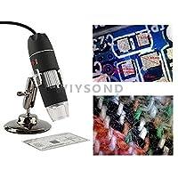 Wiysond USB Based 500倍ズーム デジタルマイクロスコープ 顕微鏡 これがあればいろいろ拡大して見ることができます【皮膚 頭皮診断 生物観察 宝石鑑定 繊維検査 偽造判断 実験】