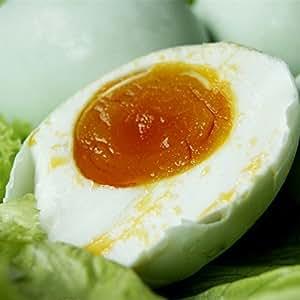 鹹鴨蛋(ゆで塩卵・塩蛋・鹹蛋・味付け卵)(アヒルの卵)  中国名産 6個入 360g
