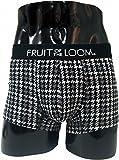 (フルーツオブザルーム) FRUIT OF THE LOOM ボクサーパンツ メンズ 下着 パンツ チェック ドット ボーダー ボクサー アンダーウェア 紳士 フルーツ ロゴ Msize 千鳥格子柄/ブラック